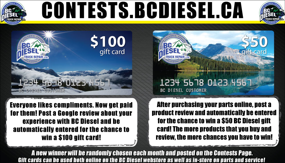BC Diesel Gift Card Contest