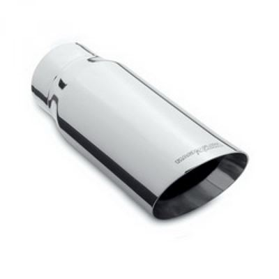 ST590NS - Flo-Pro Exhaust Tip  5-inch - 6-inch x 12-inch Double Wall Slant - Polished Stainless