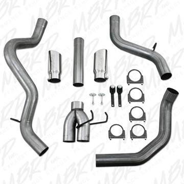 "Image de MBRP 4"" DPF Filter Back Exhaust COOL DUALS™ - Stainless (T409) Dodge 2007 - 2009"