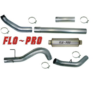 SS1848 - Flo-Pro 4-inch Turbo Back Exhaust - Stainless Dodge 2010 - 2012