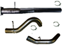 SS861 - Flo-Pro 4-inch Cat Back Exhaust - Stainless - No Muffler - GM 2011 - 2015