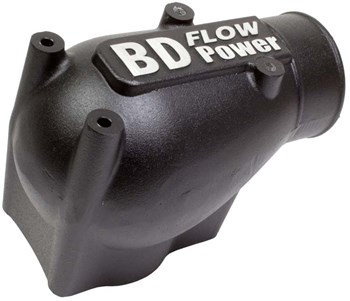 1041570 - BD X-Flow Intake Elbow - Black Powder Coated Ford 2003 - 2004