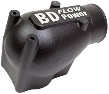 Image de BD X-Flow Intake Elbow - Black Powder Coated Ford 2003 - 2004