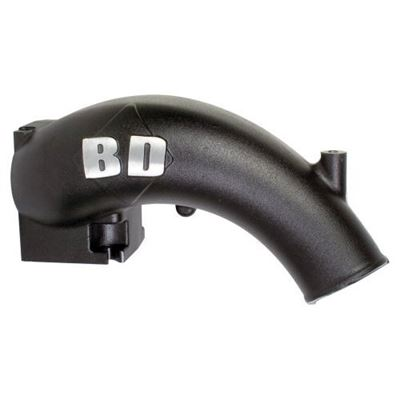 1041550 - BD X-Flow Power Intake Elbow - Black Powder Coated Dodge 1998 - 2002