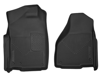 Picture of Husky Floor Mats - Front - Dodge 2003-2018 Standard/Quad Cab (Auto Trans)
