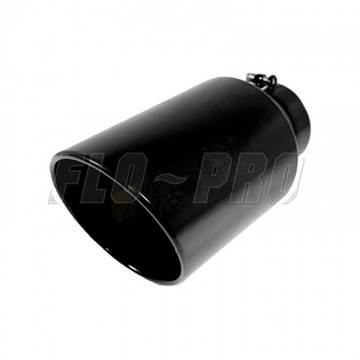 508015RACBX - Flo-Pro Exhaust Tip 5-inch - 8-inch x 15-inch - Powder Coated Black