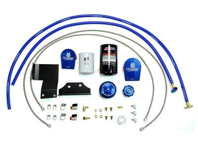 SD-EOF-CF-6.4 - Sinister Diesel Oil Filter & Coolant Filtration System for 2008-2010 Ford Powerstroke 6.4L diesels