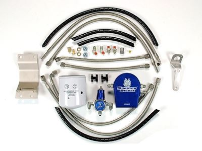 SD-FUELREG-7.3 - Sinister Diesel's Regulated Fuel Return Kit for 1999-2003 Ford Powerstroke 7.3L diesels
