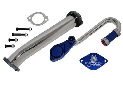 SD-EGRD-6.0 - Sinister Diesel Full EGR & Cooler Delete Kit for 2003-2007 Ford Powerstroke 6.0L diesels