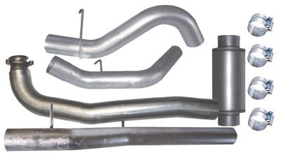 671 - Flo-Pro 5-inch Down Pipe Back Exhaust - Aluminized - GM 2015.5 - 2016