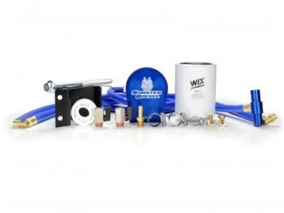 SD-COOLFIL-5.9-03-W - Sinister Diesel's Coolant Filtration Kit for 2003-2007 Dodge Cummins 5.9L diesels. Comes with WIX coolant filter.