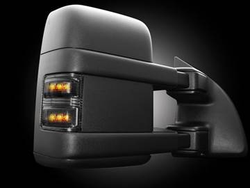 Picture of Recon LED Side Mirror Lenses - Smoked/Amber - Ford 2008-2016