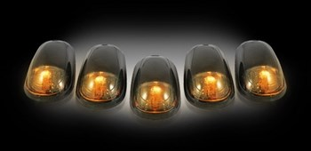 264146BK - Recon LED Cab Roof Lights - Smoked/Amber - Dodge 2003-2018