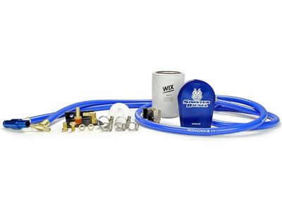 SD-COOLFIL-6.4-W - Sinister Diesel Coolant Filter Kit w/ WIX Filter for 2008-2010 Ford Powerstroke 6.4L F-Series diesels.