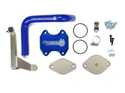 SD-EGRD-6.7C-07 - Sinister Diesel EGR & Cooler Delete Kit for 2007-2009 Dodge Cummins 6.7L 2500/3500 diesel trucks