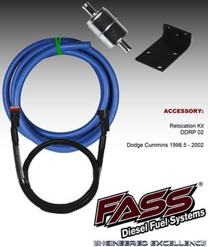 RK-02 - FASS - Dodge Direct Replacement Relocation Kit - Dodge 1998-2002
