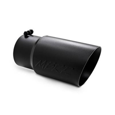 T5074BLK - MBRP Exhaust Tip 5-inch - 6-inch x 12-inch Angled - Dual Walled - Black
