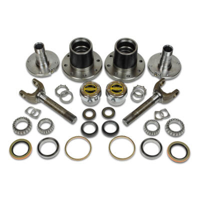 CR60-3X1104-A - Dynatrac Free-Spin Dodge Kit w/ Warn Hubs - 2000-08 Dodge