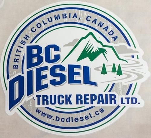 BCDS-35W - BC Diesel 3.5-inch White Sticker (Small)