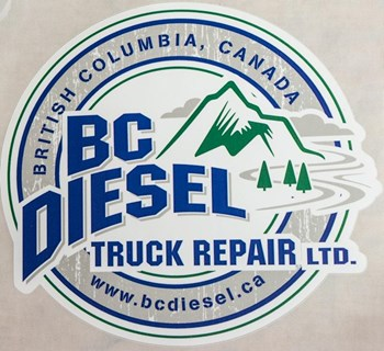 "Image de BC Diesel 6.0"" White Sticker (Large)"