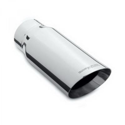 ST591NS - Flo-Pro Exhaust Tip  5-inch - 7-inch x 12-inch Double Wall Slant - Polished Stainless