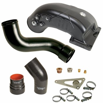 1041566 - BD X-Flow Power Intake Elbow - Black Powder Coated - Dodge 2013-2018