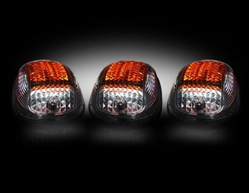 Picture of Recon LED Cab Roof Lights - Smoked/ White&Amber/ Strobable - Dodge 2003-2018