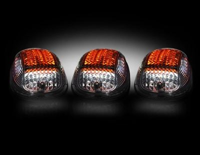 264146BKS - Recon LED Cab Roof Lights - Smoked/ White&Amber/ Strobable - Dodge 2003-2018