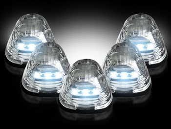 264143WHCL - Recon LED Cab Roof Lights - Clear/White - Ford 1999-2016