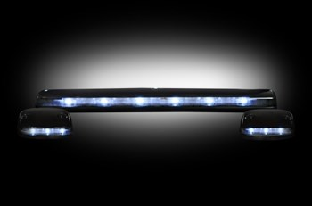 264156WHCL - Recon LED Cab Roof Lights - Clear/White - Duramax 2007-2013