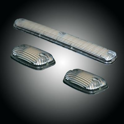 264156CLS - Recon LED Cab Roof Lights - Clear/ White&Amber/ Strobable - Duramax 2007-2013
