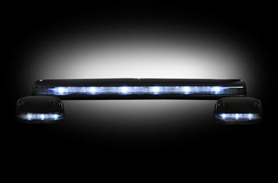 264156WHBK - Recon LED Cab Roof Lights - Smoked/White - Duramax 2007-2013