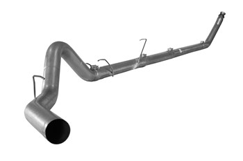 SS802NM - Flo-Pro 4-inch Turbo Back Exhaust - Stainless - No Muffler - Dodge 1994-2002 RC-EC/SB-LB-Dually