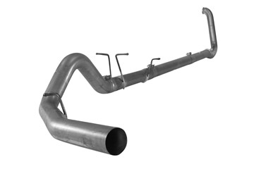 "Picture of Flo-Pro 4"" Turbo Back Exhaust - Stainless - No Muffler - Ford 1999 - 2003"