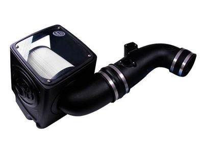 75-5075-1D - S&B's Cold Air Intake System w/ a dry and disposable air filter element for your 2011-2016 GMC/Chevy 6.6L Duramax LML diesel