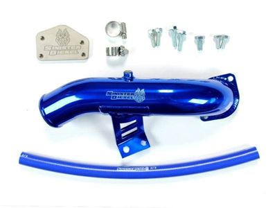 SD-EGRD-LLY-IE - Sinister Diesel EGR & Cooler Delete Kit w/ Intake Tube for 2004-2005 GMC/Chevy Duramax 6.6L LLY diesels