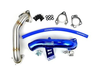 SD-EGRD-LLY-IE-UP - Sinister Diesel EGR & Cooler Delete Kit w/ Intake Tube and Passenger Side Up-Pipe for 2004-2005 GMC/Chevy Duramax 6.6L LLY diesels