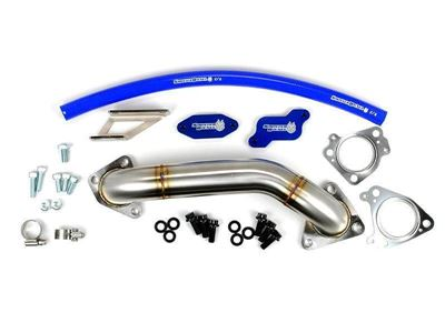SD-EGRD-LLY-UP - Sinister Diesel EGR & Cooler Delete Kit w/ Passenger Side Up-Pipe for 2004-2005 GMC/Chevy Duramax 6.6L LLY diesels