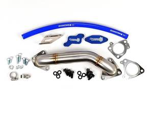 SD-EGRD-LBZ-UP - Sinister Diesel EGR & Cooler Delete Kit w/ Passenger Side Up-Pipe for 2006-2007 GMC/Chevy Duramax 6.6L LBZ diesels