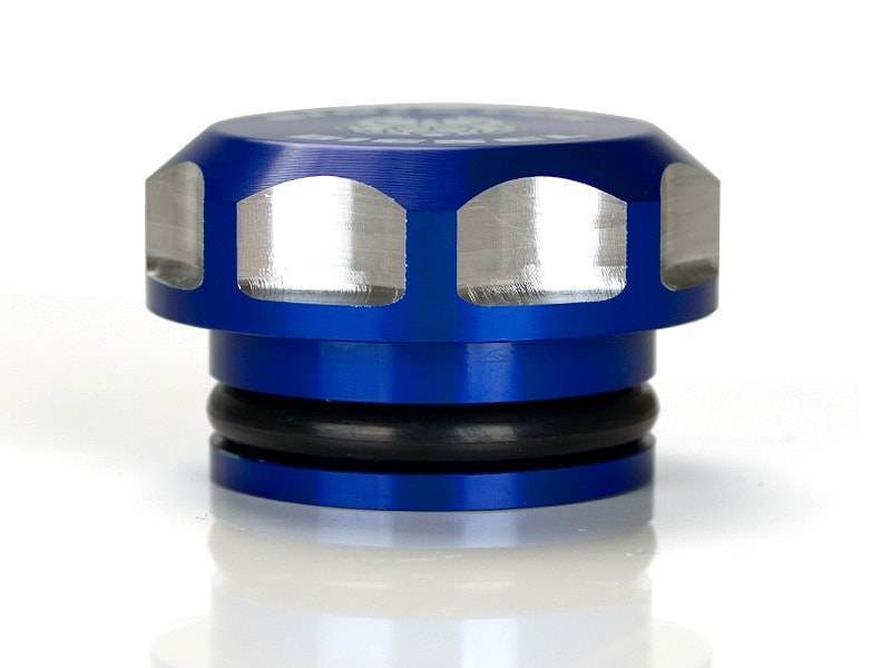 SD-FP-6.7 - Sinister Diesel's Billet Blue Fuel Cap Kit for 2013-2018 Dodge Cummins 6.7L diesels