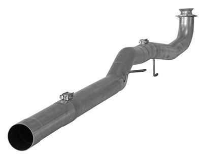 882 - FloPro 4-inch Cat & DPF Delete Pipe Kit - Aluminized - GM 2017-2018