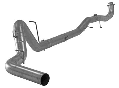 680NM - FloPro 5-inch Down Pipe Back Exhaust - Aluminized No Muffler - GM 2017