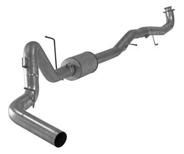 SS680 - FloPro 5-inch Down Pipe Back Exhaust - Stainless w/ Muffler - GM 2017
