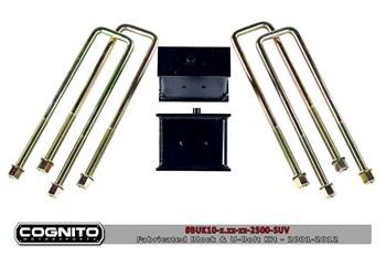 Image de Cognito Block & U-Bolt Kits - GM 2001-2010 3500HD