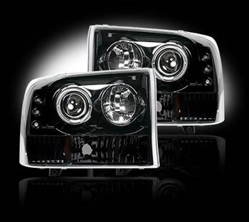 Image de Recon Projector Headlights - Smoked - Ford 1999-2004