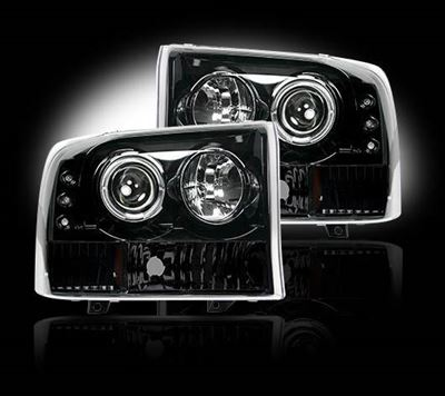 264192BK - Recon Projector Headlights - Smoked - Ford 1999-2004