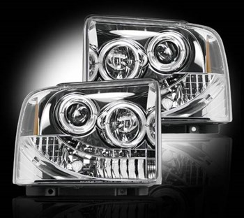 264193CL - Recon Projector Headlights - Clear - Ford 2005-2007