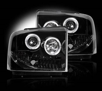 264193BK - Recon Projector Headlights - Smoked - Ford 2005-2007