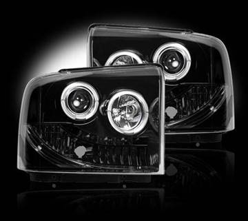 Image de Recon Projector Headlights - Smoked - Ford 2005-2007