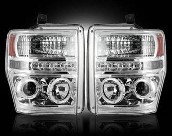 264196CL - Recon Projector Headlights - Clear - Ford 2008-2010